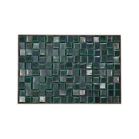 Green Ceramic Glaze Wall Tile in Black Frame