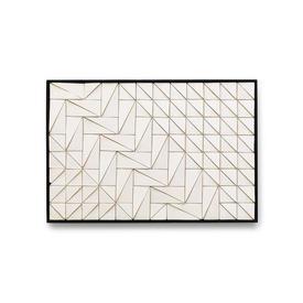 White Ceramic Wall Tile in Black Frame