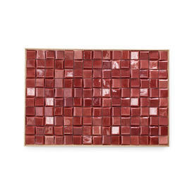 Pink Ceramic Wall Tiles in Wooden Frame