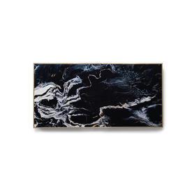 Black Marble Print in Gold Frame