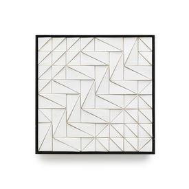 Square Black Frame White Ceramic Wall Tile