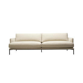"Cream Fabric ""Baron"" 3 Seater Sofa"