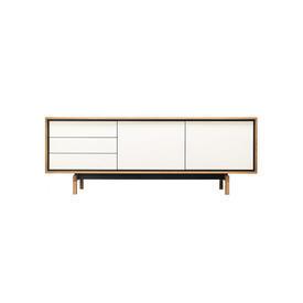 "Oak & White 2 Door 3 Drawer ""Floow"" Sideboard"