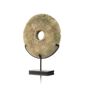 Stone Ring On Black Metal Stand