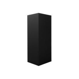 Medium Black Wooden Pedestal with Spotlight