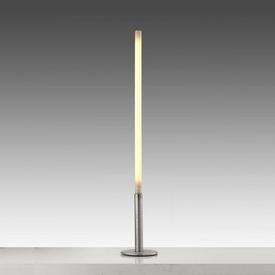 "Steel Base ""Teda"" Floor Lamp with White Plastic Diffuser"