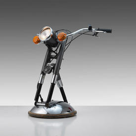 Motor Bike Handlebars Floor Lamp