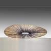 """Large Oval Purple Silk Pleated """"Basso"""" Floor Lamp"""