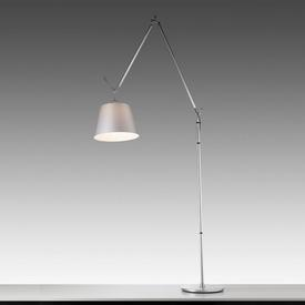 Chrome ''Tolomeo'' Anglepoise Floor Lamp with Silver Satin Shade