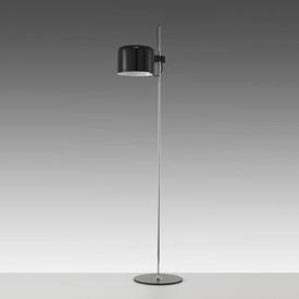 Black Lacquer & Chrome ''Coupe'' Floor Lamp