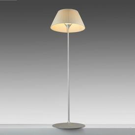 "Cast Ali ""Romeo Soft"" Floor Lamp with Cream Pleated Shade"