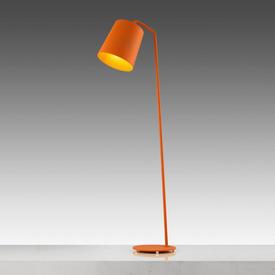 """Matt Orange """"Hide"""" Anglepoise Floor Lamp"""