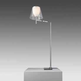 """Chrome """"K Tribe"""" Reading Lamp with Clear Perspex Shade"""