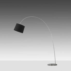 Rs Chrome Arc Floor Lamp with Black Shade