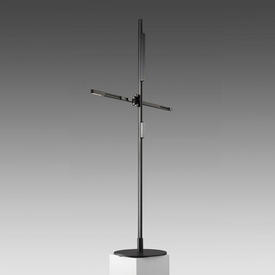 "Black ""CSYS"" Tall Reading Lamp with Power ADapter"