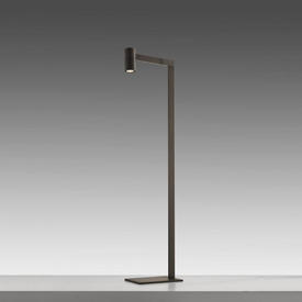 "Floorstanding Bronze Steel""Talitha"" Angled Reading Light"