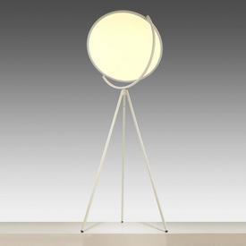 White ''Superloon'' Floor Lamp on Tripod Base