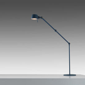Blue 2 Arm ''Bolt'' Anglepoise Floor Lamp with Brass Wingnut (Wingnut £40 Replacement If Not Returned)