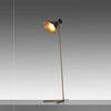Gold Base ''Peggy'' Floor Lamp with Black Cone Shade