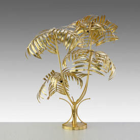 Brushed Gold Palm Tree Floor Lamp
