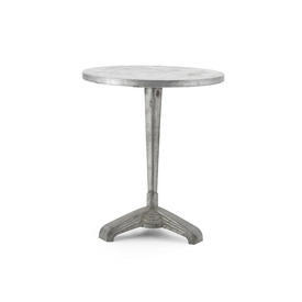 Cast Metal Deco Cafe Table Base with Circ Zinc Top