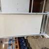 220Cm X 102Cm Grey Frame White Notice Board