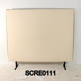 150Cm H X 120Cm Cream/Black Edge Free Standing Screen