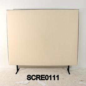 150Cm H X 120Cm Cream/Black Edge Free Standing Screen