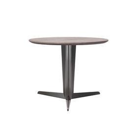 "Circ Graphite Oak ""Attico"" Lamp Table on Pewter Tri Leg Base"