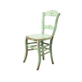 Mint Green Distressed Wooden Chair