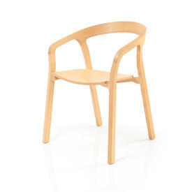 Pale Wood ''Cohen'' Dining Chair