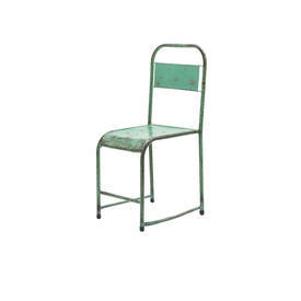 Aged Green Metal Chair