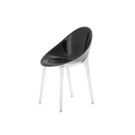 Black Perspex ''Mr Impossible'' Dining Chair on Clear Legs