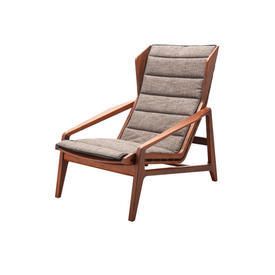 G.P American Walnut Framed Chair with Brown Chenille Seat Pad