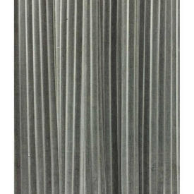 "Pair Drapes 13'6"" x 8' Grey Stripe Cut Velvet"
