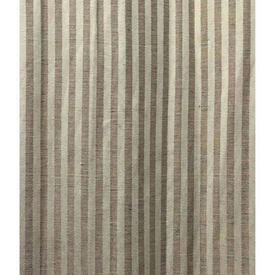 "Pair Drapes 13'6"" x 4' Cream / Beige Stripe Linen Weave"