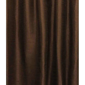 Pair Drapes 12' x 4' Brown Silky Dupion