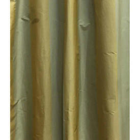 Pair Drapes 12' x 4' Lime Stripe Taffeta