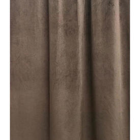 "Pair Drapes 11'11"" x 4'6"" Brown Velvet"