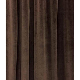 Pair Drapes 12' x 4' Brown Velvet