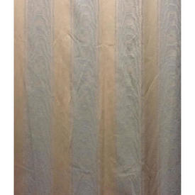 Pair Drapes 12' x 4' Lilac / Apricot Watersilk Stripe Patt Damask