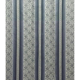 """Pair Drapes 11'9"""" x 6' Airforce Wide Stripe Sateen"""