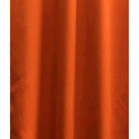 Pair Drapes 11' x 4' Orange Sateen