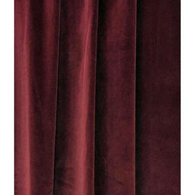 Pair Drapes 11' x 6' Maroon Velvet (Metal Hooks top)