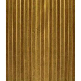 """Pair Drapes 10'3"""" x 6' Mustard Stripe Cut Velvet"""