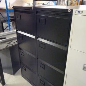 Black Metal 4 Drawer Mkb Filing Cabinet