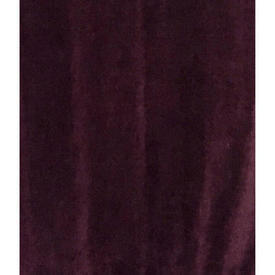 "Pair Drapes 10'9"" x 4' Plum Velvet / Braid"