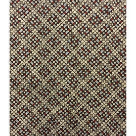 Pair Drapes 10' x 6' Brown Jay Yang Woodco Tiny Diamond Geo Print