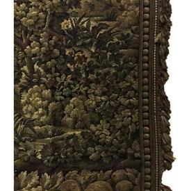 Pair Drapes 10' x 4' Bottle Verdure Tapestry / Fringe