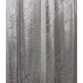 Pair Drapes 10' x 4' Grey Watersilk Moire